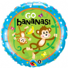 "Birthday Monkeys Foil Balloon (18"") 1pc"